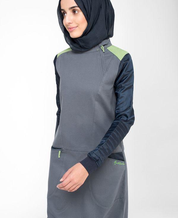 Silk Route Playful Pocket Jilbab Casual Abaya