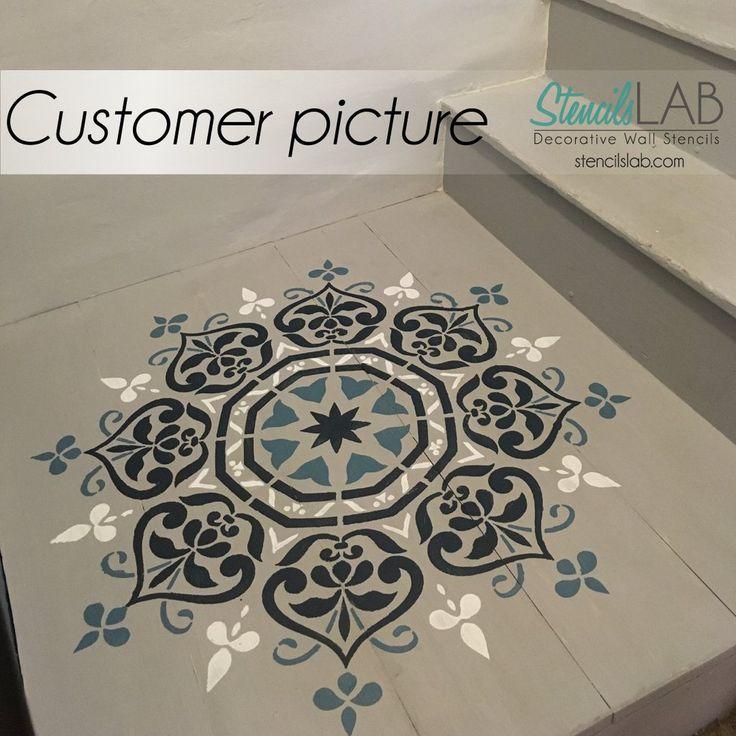 Mandala Style Stencil - Floral Motive Wall Stencil - Original And Uniq – StencilsLab Wall Stencils