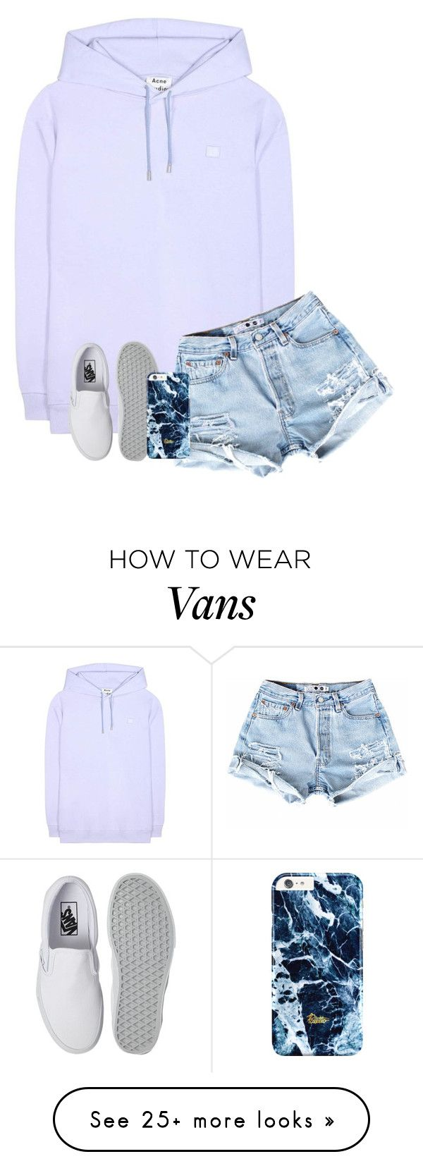 """""""Chillin at home, bored out of my mind on a Saturday night....story of my life XD"""" by graciegirl2015 on Polyvore featuring Acne Studios and Vans"""