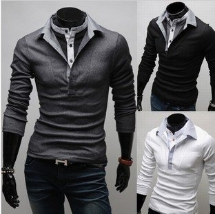 Men's Polo T-Shirts Casual Slim Fit