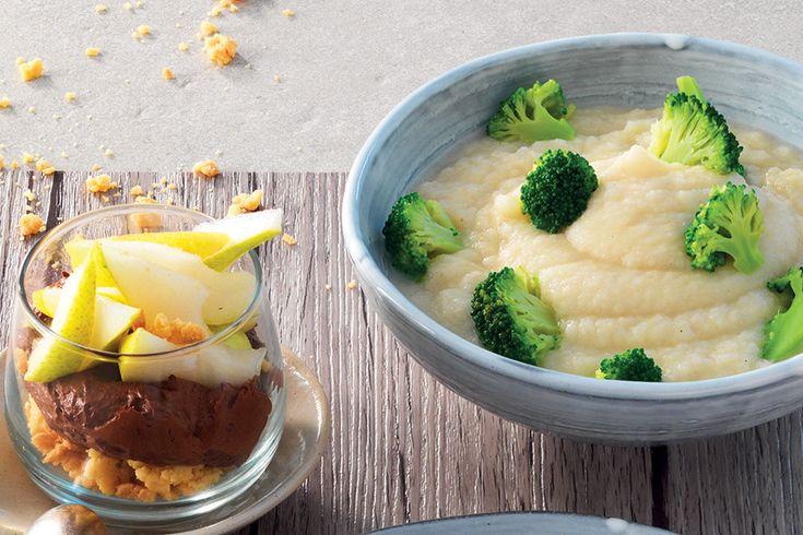 Crema di sedano rapa con broccoletti