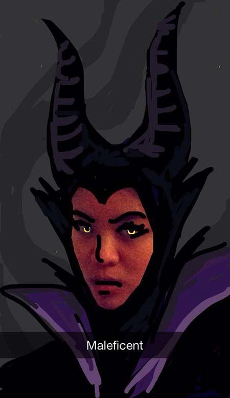 snapchat drawing Maleficent