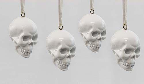 The Minimalist x White skull Christmas tree ornaments