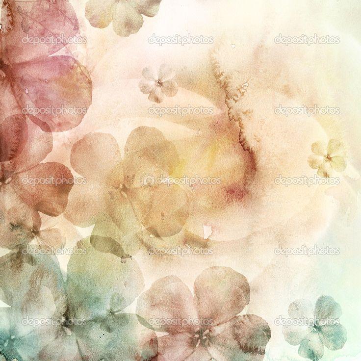 Акварель фон с цветами — Стоковое фото #5176694