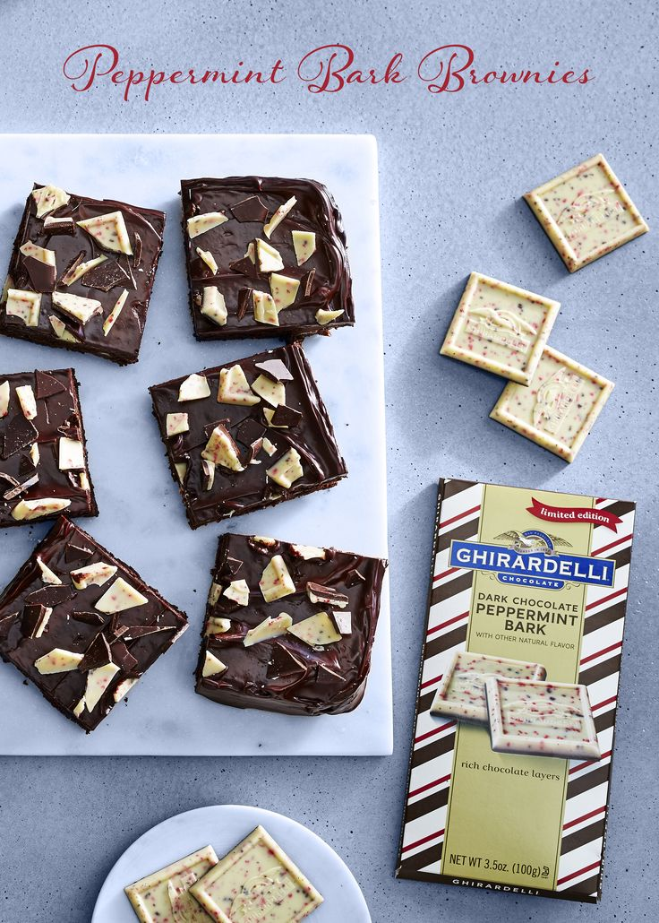 Ghirardelli peppermint bark brownies the perfect holiday