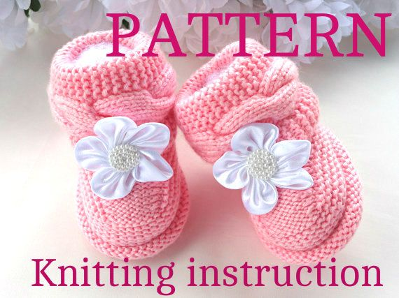 Knitting Pattern For Baby Girl Shoes : 1000+ ideas about Knit Baby Shoes on Pinterest Knitting patterns baby, Baby...
