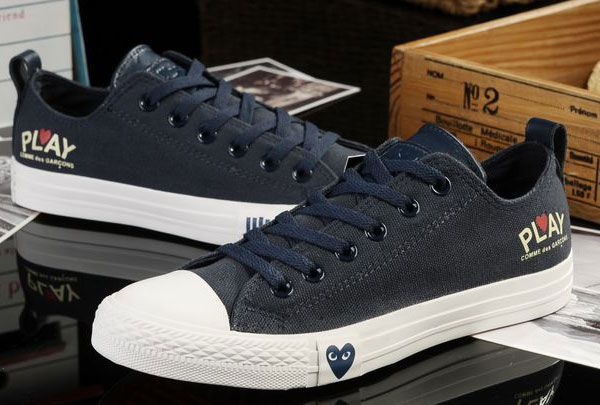 Limited Edition Blue Converse All Star Light Comme des
