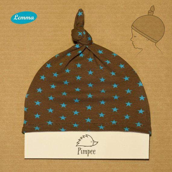 Pimpee / Bluestar  orgainc baby hat by LemmaShop on Etsy