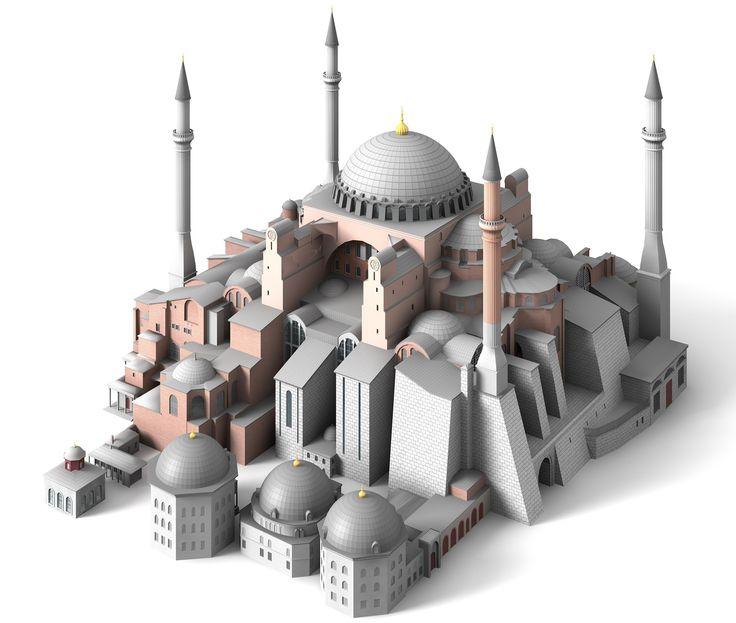 Hagia Sophia - İstanbul / Turkey - 3d model