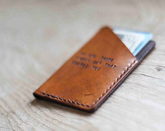 Custom Leather Wallet Stocking Stuffer by SandSLeatherCraft