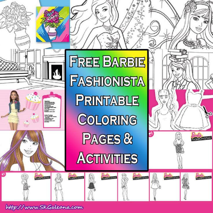 Barbie Fashionista Free Printable Coloring Pages And Activities