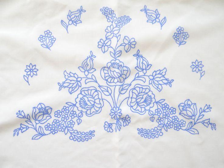 Kalocsa pattern print from Hungary PILLOW New DIY