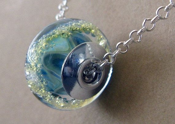 Glass Memorial Bead Necklace Your Loved One Or Pets Ashes