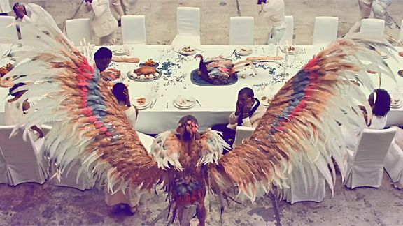 Pheonix from Kanye West's Runaway video. i want these wings.