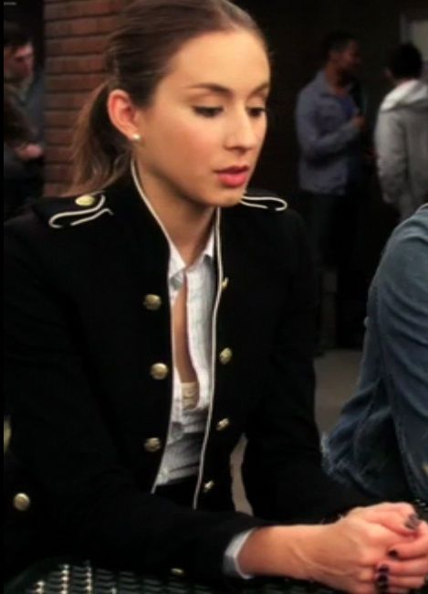 """Military style coats are just too awesome. Spencer from """"Pretty Little Liars""""."""
