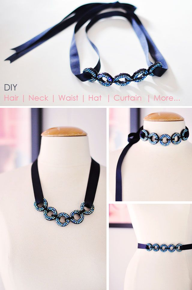 DIY Hair Accessories, DIY Belt, DIY Necklace, Fashion and Home DIYs