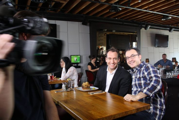 RTOWN customer Romer's filmed their feature spot on Food Network Canada's You Gotta Eat Here!  Here's a snap of the show host, John Catucci, with one of the diners in between takes!  Get the recap of the day on our blog: http://rtown.ca/romers-rtown-you-gotta-eat-here/
