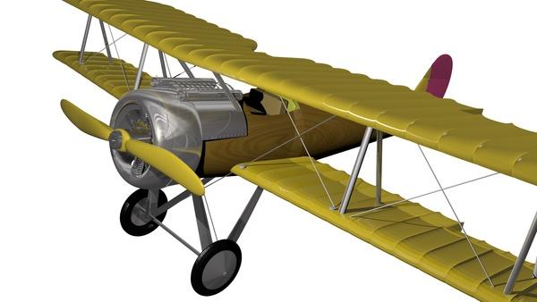 Avioneta 3D by Andreia Encarnação, via Behance
