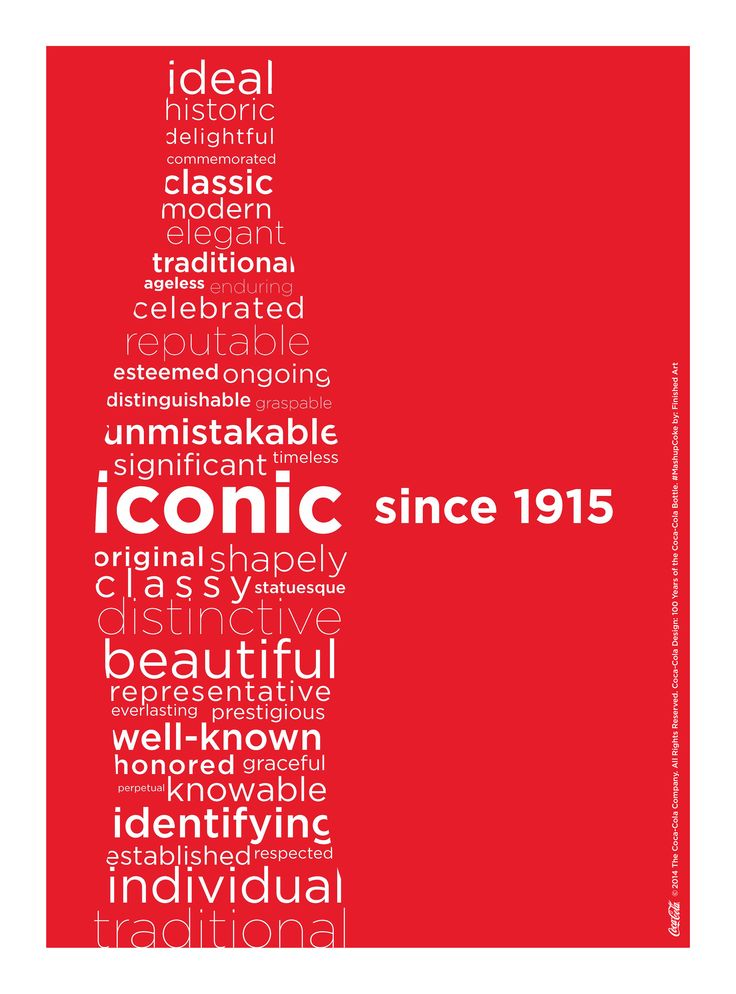 Kiss The Past Hello. Coca-Cola Design: 100 Years of the Coca-Cola Bottle. #MashupCoke by: Finished Art