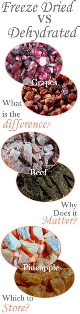 Freeze Dried vs Dehydrated foods - Your Own Home Store
