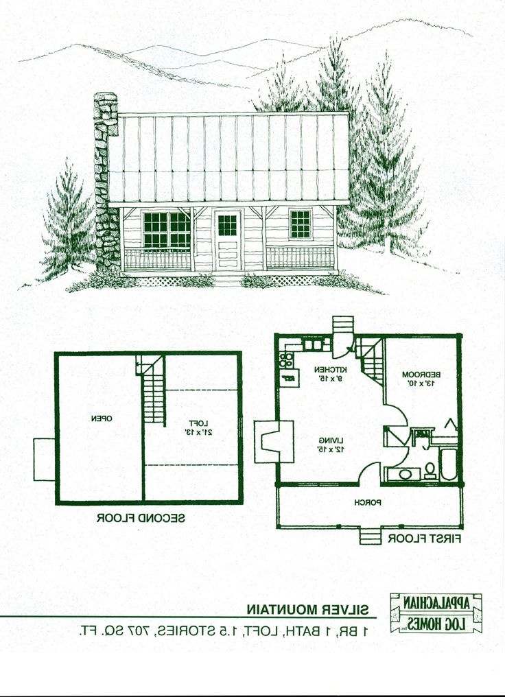 17 best ideas about cabin plans with loft on pinterest Small cottage blueprints
