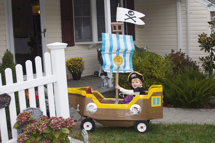 Bucky! Pirate ship!! Since Jansen is gonna be Jake this year from the Neverland Pirates I'm gonna turn his wagon into Bucky the pirate ship lol