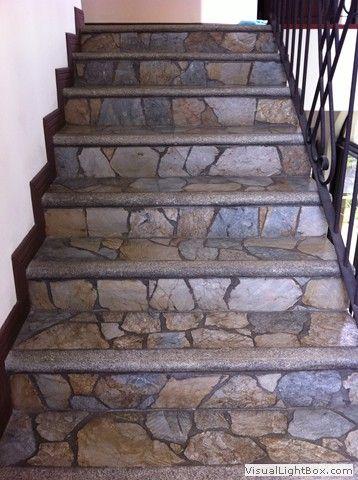 escaleras de piedra para interiores