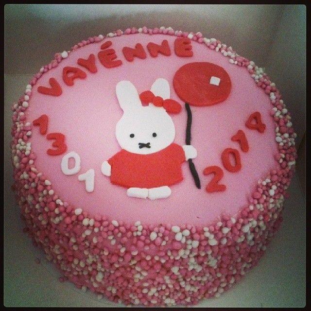 Geboortetaart Nijntje # beautifulcakes.123website.nl