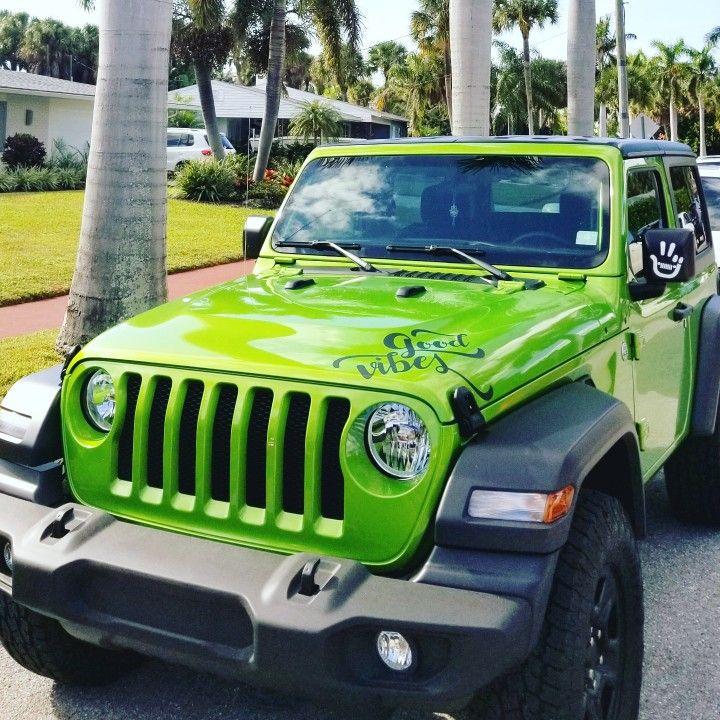 2 Door Mojito Green 2018 Jeep Wrangler Sport Goodvibes Jeep Wrangler Wrangler Sport Green Jeep