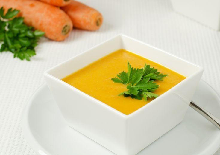 Krémová mrkvová polievka