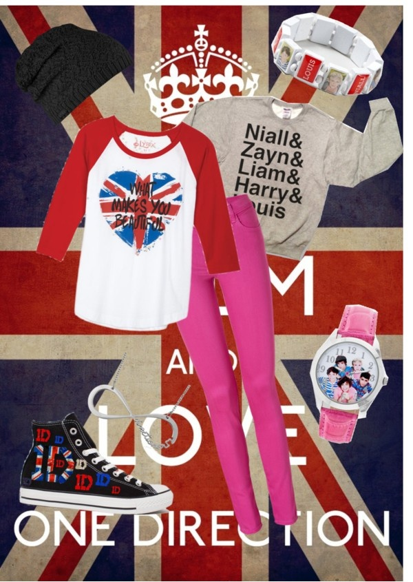 """keep calm and love one direction 3"" by claramartellani ❤ liked on Polyvore"