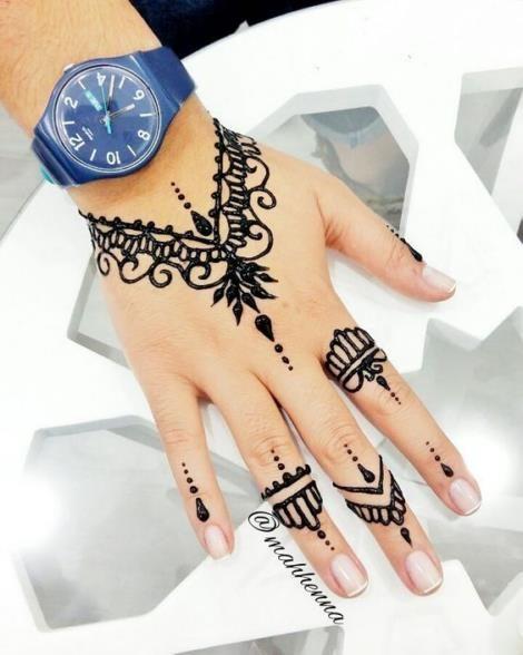 Dessins faciles de tatouage au henné pour fille et débutant 09012019 (14)   – Blumen Tattoos