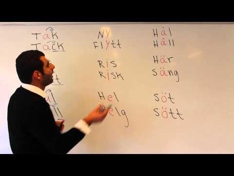 Svenska språket på arabiska (Lång och kort vokal) - YouTube