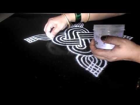 Padi kolam for  Margazhi or New Year rangoli   Sudha Balaji geethala muggulu for Sankranti - YouTube
