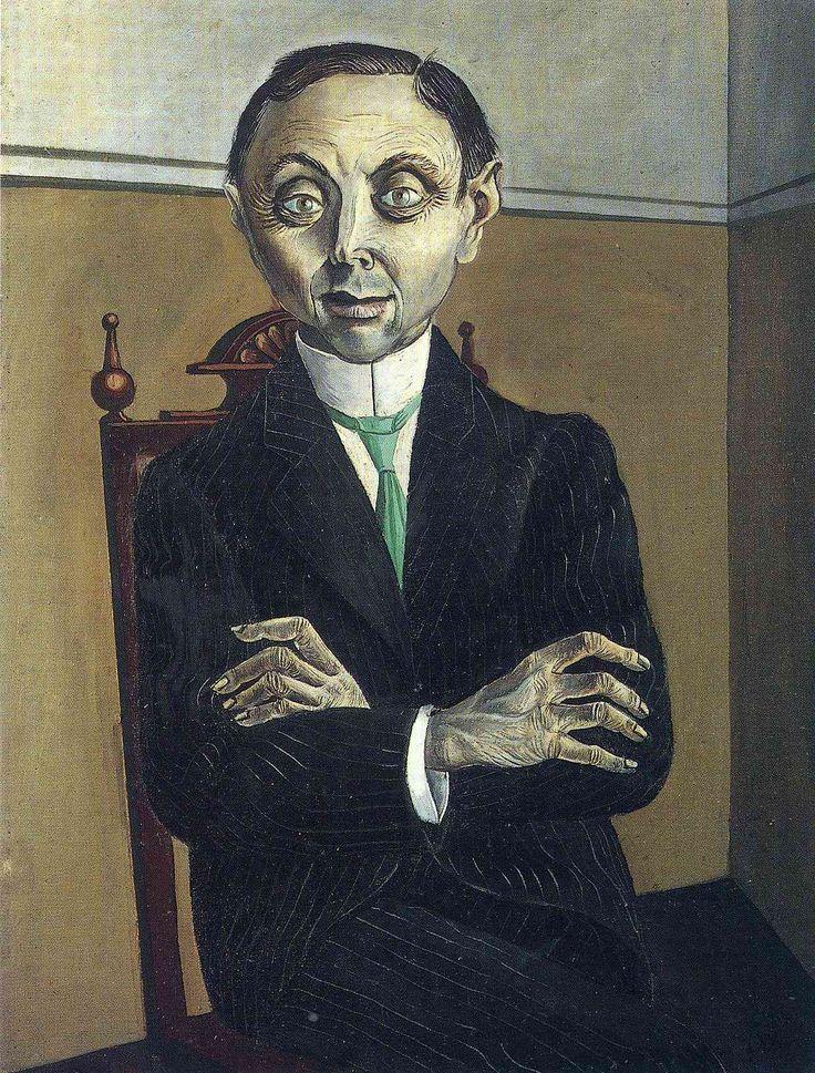 Portrait of Paul F. Schmidt by Otto Dix, oil on canvas, 63x82cm, 1921.