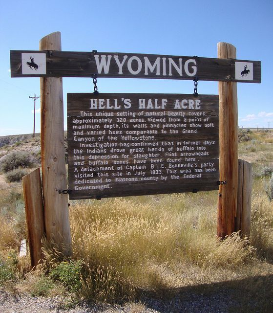 hells half acre wyoming   Hell's Half Acre Marker (Natrona County, Wyoming)   Flickr - Photo ...