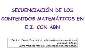 """A partir del libro """"Desarrollo y mejora de la inteligencia matemática en Educación Infantil"""" Elsa Espejo Maldonado maestrade Educación Inf..."""