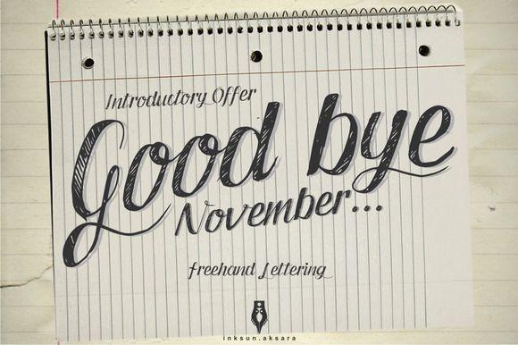 Good Bye November by Inksun.aksara on Creative Market