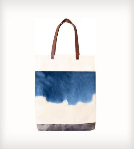 Leather, Waxed  Hand-Dyed Canvas Pocket Tote Bag   Women's Bags  Accessories   McLoveBuddy   Scoutmob Shoppe   Product Detail