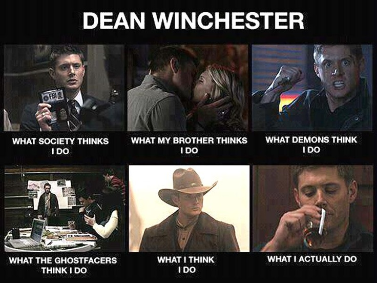 What Dean Winchester Does #Supernatural #DeanWinchester