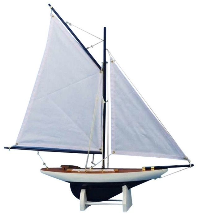 http://www.houzz.com/photos/13110075/Wooden-Americas-Cup-Contender-Model-Sailboat-Decoration-Dark-Blue-White-18-beach-style-decorative-objects-and-figurines