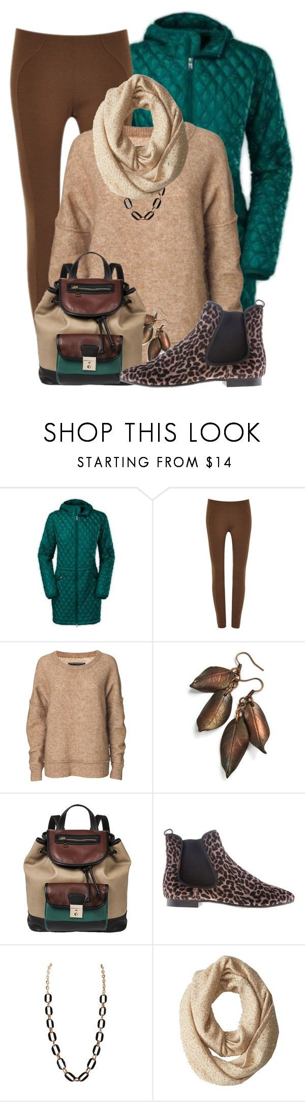 """Cosy Sweater and Leggings"" by lakegirl511 ❤ liked on Polyvore featuring The North Face, Marc Jacobs, By Malene Birger, Melie Bianco, Pretty Ballerinas, Humble Chic and Kate Spade"