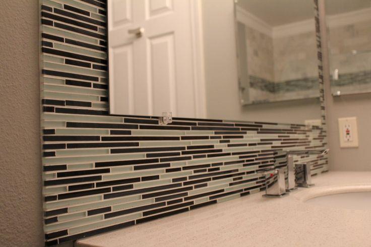 peel n stick mirror border diy | Bathroom Ideas ...
