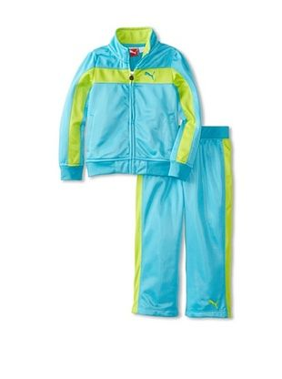 60% OFF Puma Girl's Print Colorblock Stripe Tricot Set (Pro Blue)