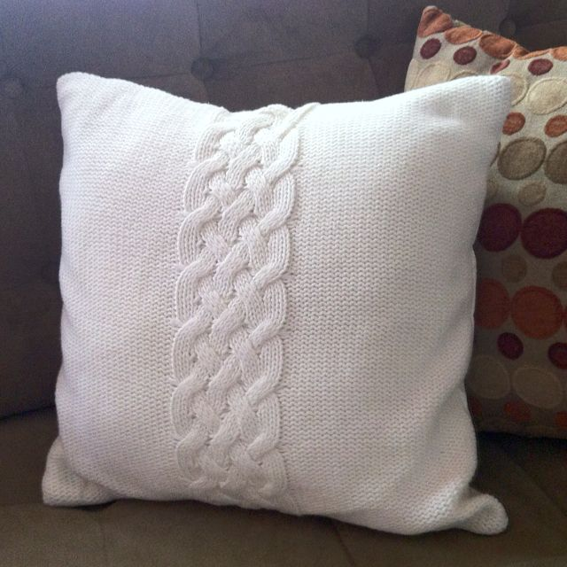 knit pillows   Cable Knit Pillow   Crochet, knit, & Embroidery