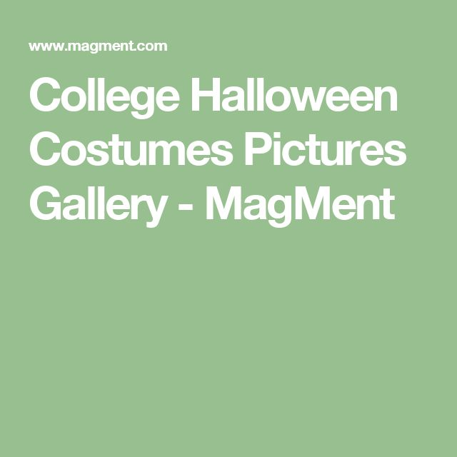 College Halloween Costumes Pictures Gallery - MagMent