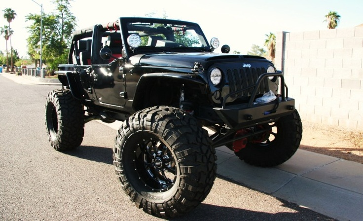 Big black JeepBlack And Pink Trucks, Big Black, Sexy Jeeps, Black Jeeps, Jeeps Trucks Cars, Dreams Cars, Boyfriends, Jeeps Wranglers, Dreams Jeeps