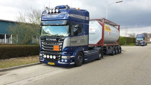 Scania Truck With Iso Tank Intermodal Container