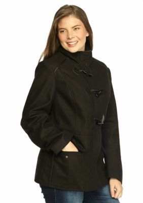 Rampage  Plus Size Maddy Toggle Peacoat