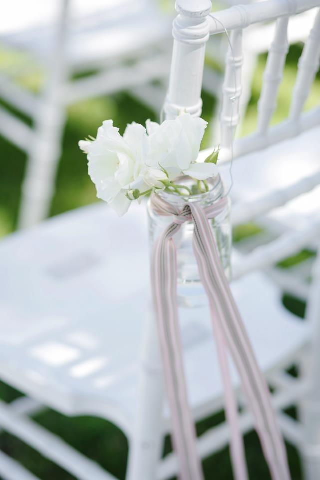 White rose pews